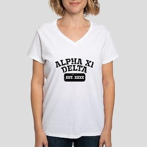 Alpha Xi Delta Athletic Per Women's V-Neck T-Shirt