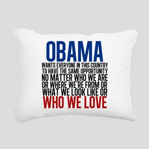 Obama Equality Rectangular Canvas Pillow