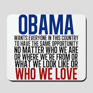 Obama Equality Mousepad