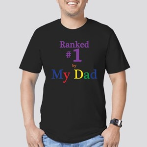 Ranked #1 by My Dad (SEO) Men's Fitted T-Shirt (da