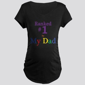 Ranked #1 by My Dad (SEO) Maternity Dark T-Shirt