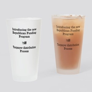 Republican Funding Drinking Glass