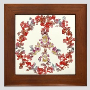Attraction Flower Peace - Simple Framed Tile