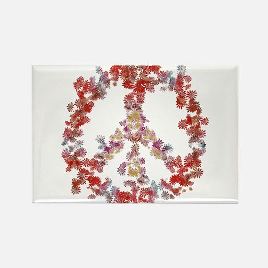 Attraction Flower Peace - Simple Rectangle Magnet