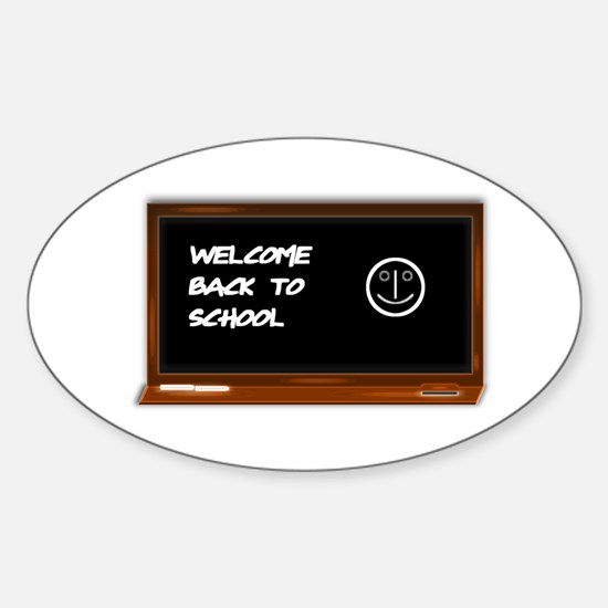 Welcome to school Sticker (Oval)