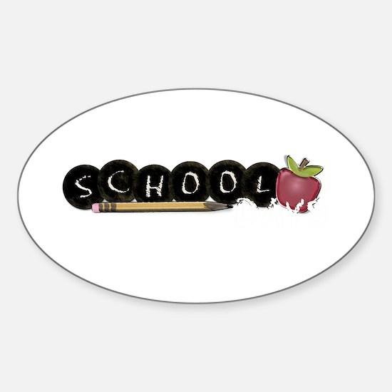 School apple Sticker (Oval)