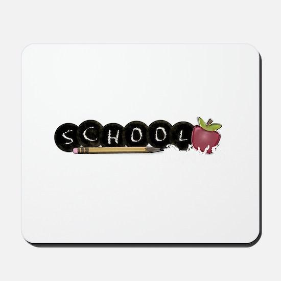 School apple Mousepad