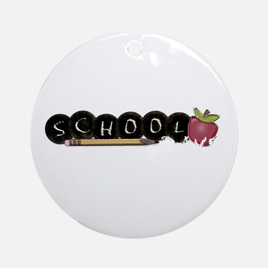 School apple Ornament (Round)