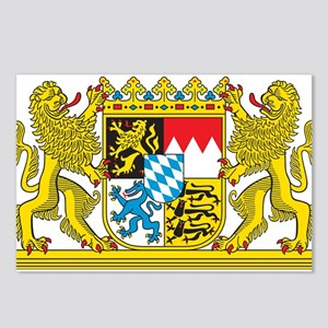 Landeswappen Bayern Postcards (Package of 8)