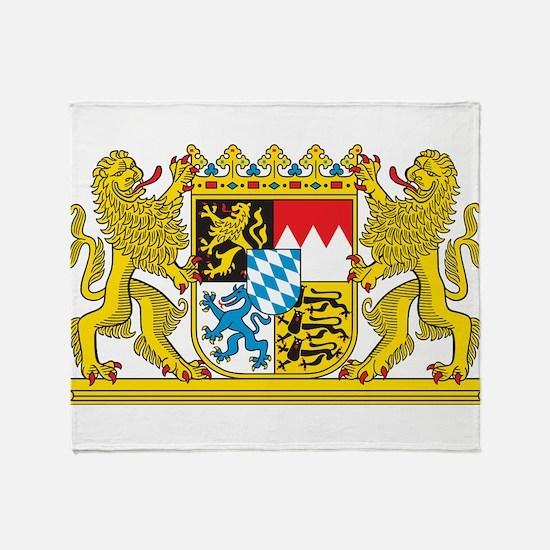Landeswappen Bayern Throw Blanket