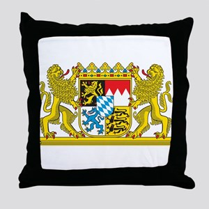 Landeswappen Bayern Throw Pillow