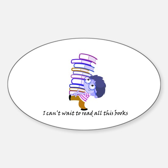I cant wait to read Sticker (Oval)