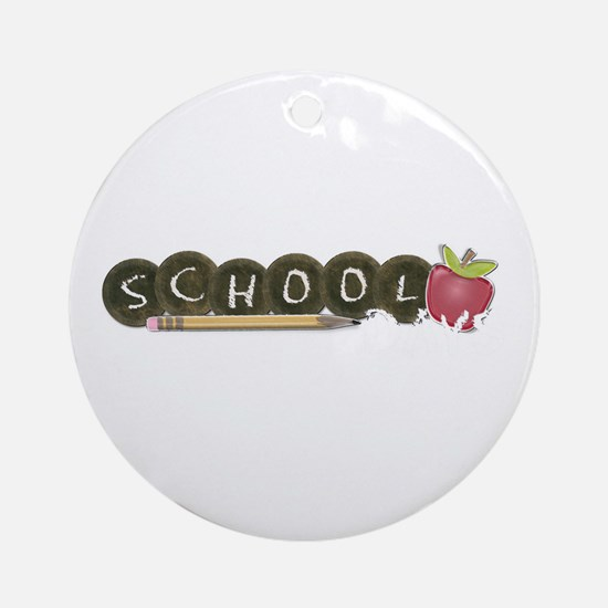 School pencils Ornament (Round)