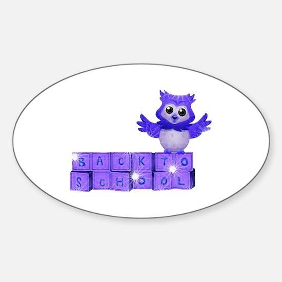 School owl Sticker (Oval)