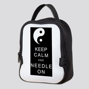 Keep Calm And Needle On Neoprene Lunch Bag
