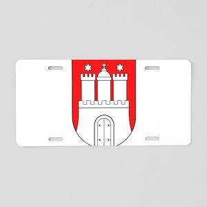 Hamburg Wappen Aluminum License Plate