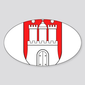Hamburg Wappen Sticker (Oval)