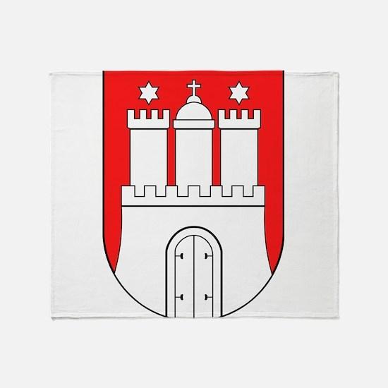 Hamburg Wappen Throw Blanket