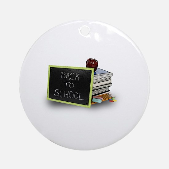 Back to school apple Ornament (Round)