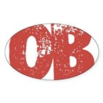 OB Sticker (Oval)