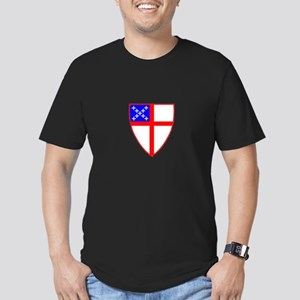 Episcopal Shield Men's Fitted T-Shirt (dark)