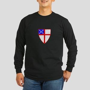 Episcopal Shield Long Sleeve Dark T-Shirt
