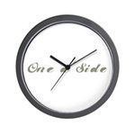 One a Side Wall Clock