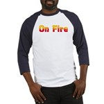 On Fire Baseball Jersey