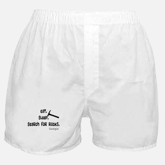 Geologist Eat Sleep Rocks.PNG Boxer Shorts