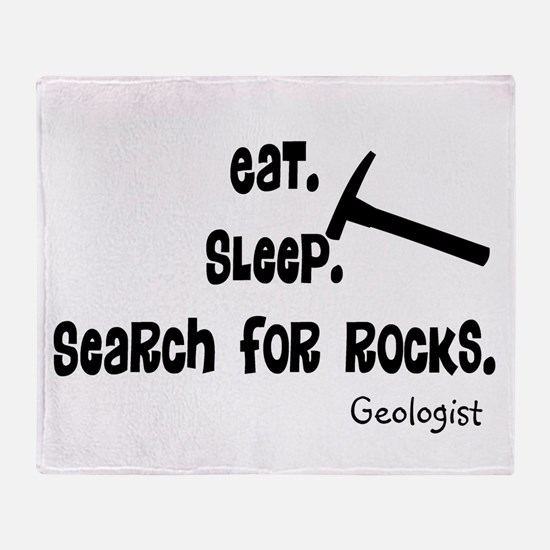 Geologist Eat Sleep Rocks.PNG Throw Blanket