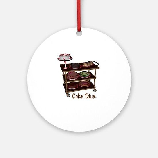 Cake Diva Ornament (Round)