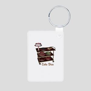 Cake Diva Aluminum Photo Keychain