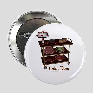 """Cake Diva 2.25"""" Button"""