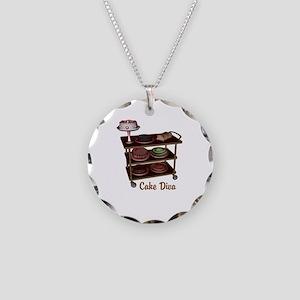 Cake Diva Necklace Circle Charm