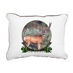 bow hunter, trophy buck. Rectangular Canvas Pillow