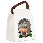 bow hunter, trophy buck. Canvas Lunch Bag