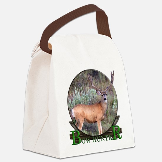 bow hunter, trophy buck. Canvas Lunch Bag