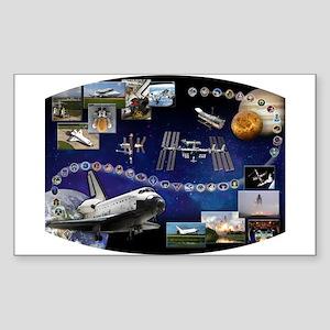 OV 104 Atlantis Sticker (Rectangle)