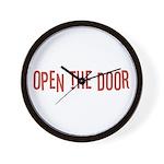 Open the Door Wall Clock