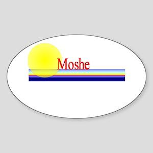 Moshe Oval Sticker
