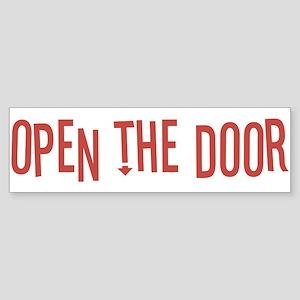Open the Door Sticker (Bumper)