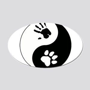 Big Cat Therian Ying Yang 20x12 Oval Wall Decal