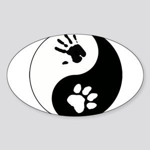 Big Cat Therian Ying Yang Sticker (Oval)
