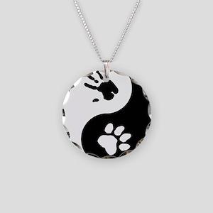 Big Cat Therian Ying Yang Necklace Circle Charm