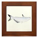 Blue Catfish fish Framed Tile