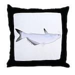 Blue Catfish fish Throw Pillow