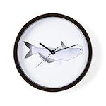 Blue Catfish fish Wall Clock