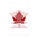 Canada Anthem Souvenir Sticker (Rectangle 50 pk)