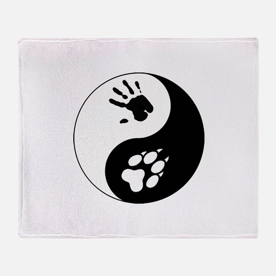 Wolf Therian Ying Yang Throw Blanket