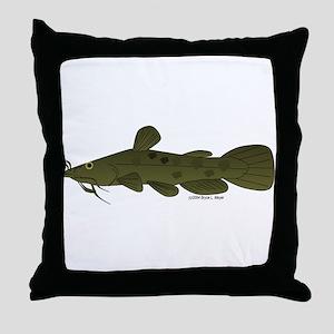 Flathead Catfish Throw Pillow